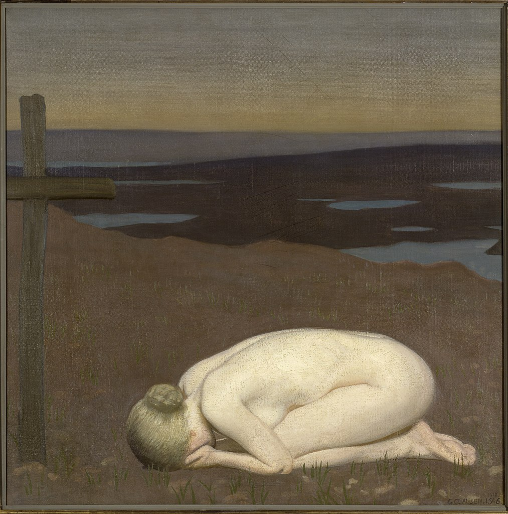 George Clausen  (1852–1944), 'Youth Mourning', 1916,  (C)Imperial War Museum.