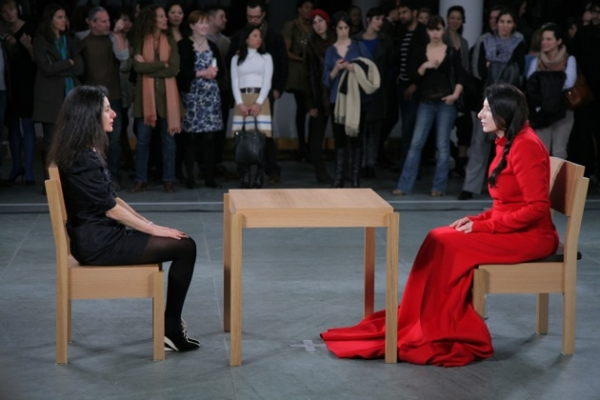 Marina Abramović performing The Artist Is Present at the Museum of Modern Art, New York, 2010 by Scott Rudd