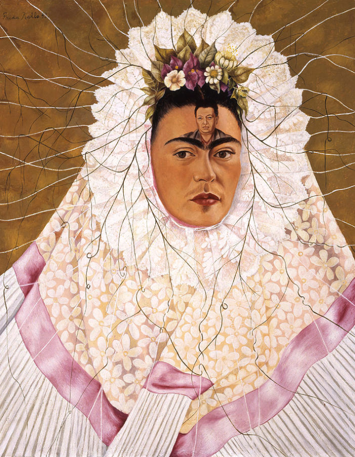 Frida Kahlo (1907-1954), ' Diego on my mind (Self-portrait as Tehuana)', 1943,  76 x 61 cm, oil on canvas, Jacques and Natasha Gelman Collection, Mexico City, Mexico.