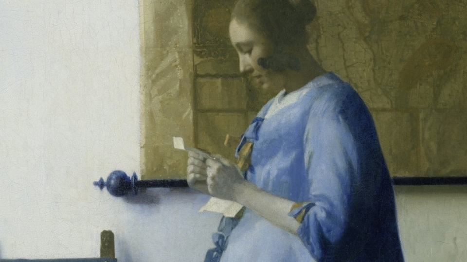 Johannes Vermeer  (1632–1675) , Woman reading a letter.